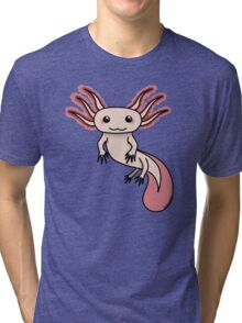 Chibi Axolotl Tri-blend T-Shirt