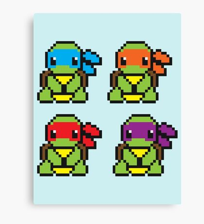 Cute TMNT Pixel Canvas Print