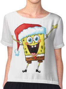 Merry Christmas Chiffon Top