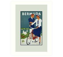 Bermuda Adolph Treidler travel advertisement Art Print