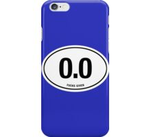 0.0 - NO FUCKS GIVEN iPhone Case/Skin