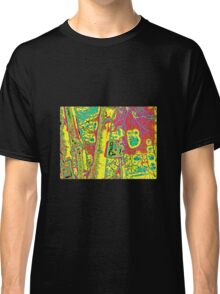 ABSTRACT TREE AND BIRDHOUSE Classic T-Shirt