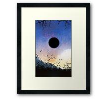 black star Framed Print