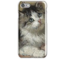 Henriette Ronner-Knip - An Inquisitive Kitten  iPhone Case/Skin