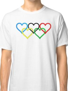 Olympic love, five crossed hearts Classic T-Shirt