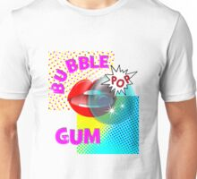 Retro Pop Art Bubble Gum Comic Book Popping Design Unisex T-Shirt