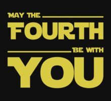May The Fourth Be With You - Stars Wars Parody for Geeks Kids Tee