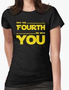 May The Fourth Be With You - Stars Wars Parody for Geeks Womens Fitted T-Shirt