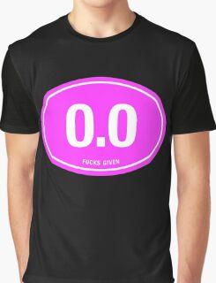 0.0 - NO FUCKS GIVEN - Pink Graphic T-Shirt