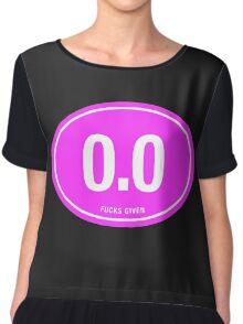 0.0 - NO FUCKS GIVEN - Pink Chiffon Top