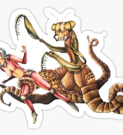 Mantapus Retro Monster Sticker
