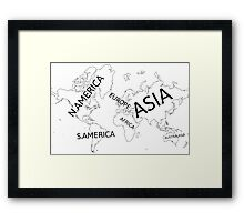 All seven continents. Framed Print
