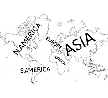 All seven continents. Photographic Print