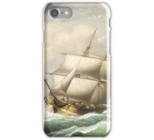 Fitz Henry Lane - Brig Off The Maine Coast  iPhone Case/Skin
