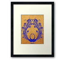 Blue peacocks Framed Print