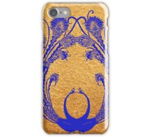 Blue peacocks iPhone Case/Skin