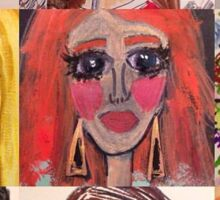 Fashion Doll Montage II Sticker
