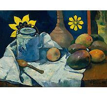 Yellow Flower with Teapot - Paul Gauguin Photographic Print
