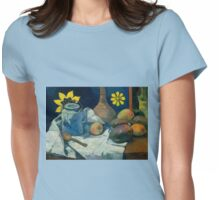 Yellow Flower with Teapot - Paul Gauguin Womens Fitted T-Shirt