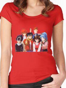Yu Yu Hakusho group Women's Fitted Scoop T-Shirt