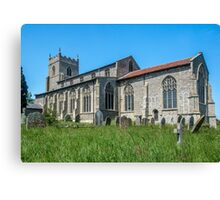 St Mary`s Church, Wiveton, North Norfolk, South Face Canvas Print