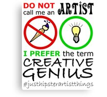 Creative Genius - Hipster Geek Canvas Print