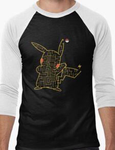 Pokemon Pikachu Maze Men's Baseball ¾ T-Shirt