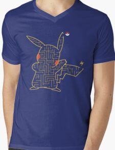 Pokemon Pikachu Maze Mens V-Neck T-Shirt