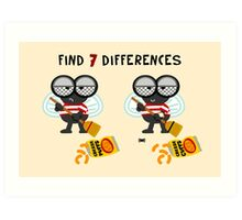 Find 7 Differences Art Print