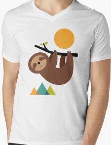 Keep Calm And Live Slow Mens V-Neck T-Shirt