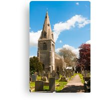 Building, Church, St Peter`s, North Rauceby, Linconshire Canvas Print
