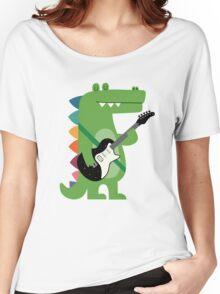 Croco Rock Women's Relaxed Fit T-Shirt