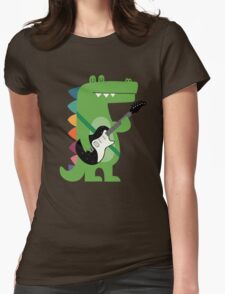 Croco Rock Womens Fitted T-Shirt