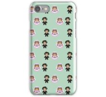 8-bit Bride and Groom Pattern iPhone Case/Skin