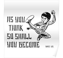 Bruce Lee Quotations  Poster