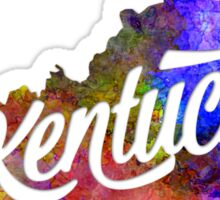 Kentucky US State in watercolor text cut out Sticker