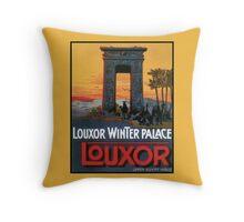 Vintage Luxor Egypt hotel advert Throw Pillow
