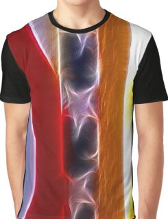 Red White & Blue Abstract Graphic T-Shirt