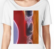 Red White & Blue Abstract Women's Relaxed Fit T-Shirt