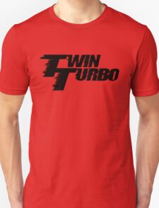 Twin Turbo Car Auto Stickers Unisex T-Shirt
