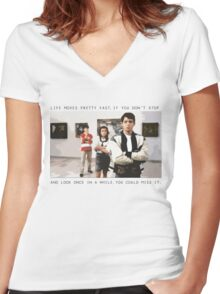 Ferris Bueller Women's Fitted V-Neck T-Shirt