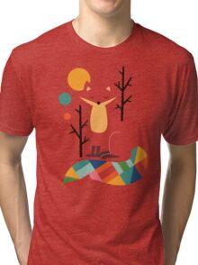 Rainbow Fox Tri-blend T-Shirt