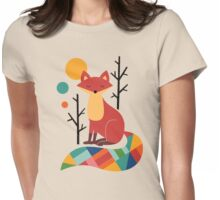 Rainbow Fox Womens Fitted T-Shirt