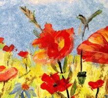 Wildflowers in Acrylics Sticker