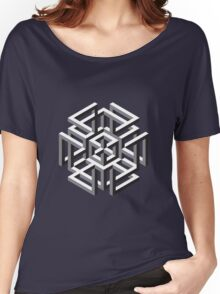 Geometric abstract figure pattern Women's Relaxed Fit T-Shirt
