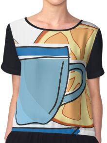 Coffee cup  Chiffon Top