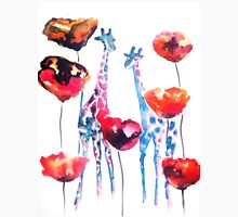 Giraffes in the Poppies Unisex T-Shirt