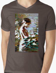 Glitch Girl Mens V-Neck T-Shirt