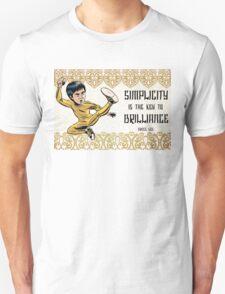 Bruce Lee Simplicity Quote Unisex T-Shirt