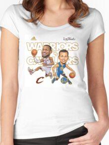Warriors Vs Cavaliers Women's Fitted Scoop T-Shirt